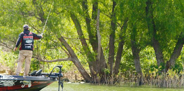 How thrift and clausen fished the ttbc bassblaster for Lake bryan fishing